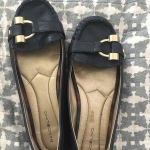 Navy Bandolino loafer flats